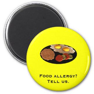 Food allergy? Tell us. Magnet