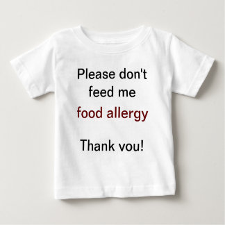 Food Allergy Warning Shirt