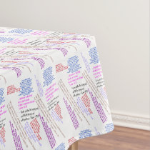 Food and Fulfillment Tablecloth