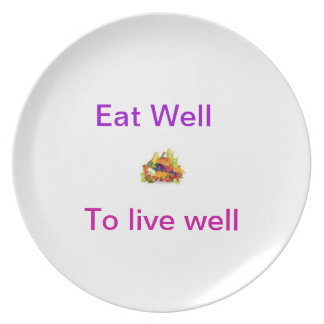 Food and health party plates
