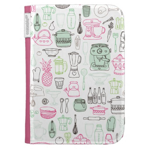 Food and Kitchen pattern kindle case