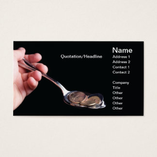 Food and money business card