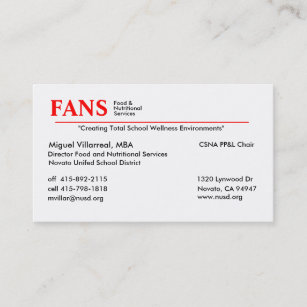 Mba business cards zazzle food and nutritional services business card colourmoves