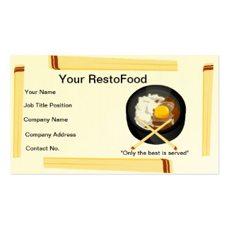 Food and Restaurant Business Card