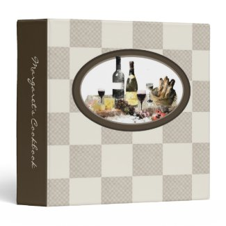 Food and wine chef catering recipe cookbook binder