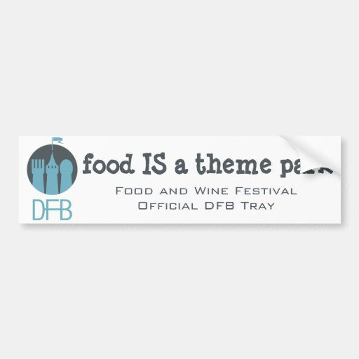 Food and Wine Festival DFB Tray Sticker Bumper Stickers