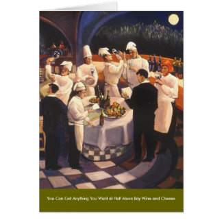 Food and Wine Series Greeting Card
