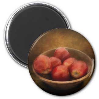 Food - Apples - A bowl of apples 2 Inch Round Magnet
