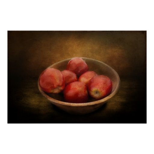 Food - Apples - A bowl of apples Print