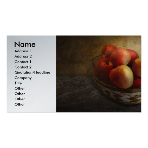 Food - Apples - Apples in a basket Business Card Templates