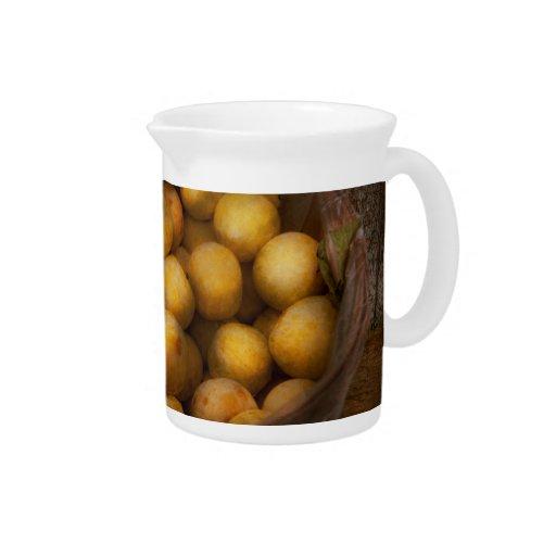 Food - Apples - Golden apples Beverage Pitcher