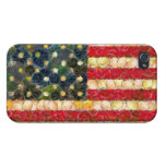 Food Art American Flag Covers For iPhone 4