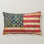 Food Art American Flag Pillow