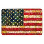 Food Art American Flag Rectangular Magnet
