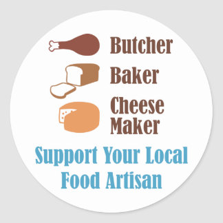 Food Artisan Classic Round Sticker