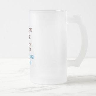 Food Artisan 16 Oz Frosted Glass Beer Mug