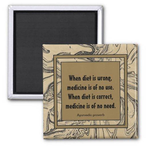 food as medicine 2 inch square magnet