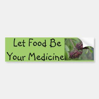 Food As Medicine Bumper Sticker