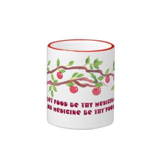 food as medicine. ringer coffee mug