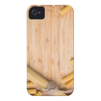 Food background with thin spaghetti and pasta iPhone 4 case