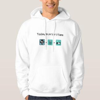 food-beer-sleep hoodie