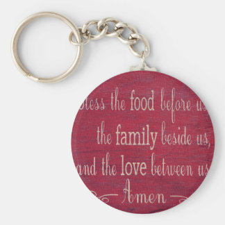 Food Blessing Basic Round Button Keychain