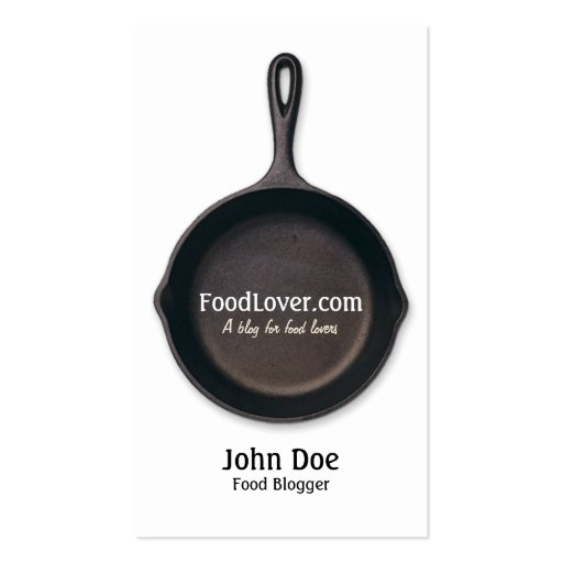 Food Blog Business Card