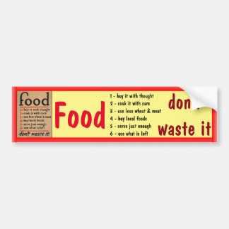 Food bumper sticker