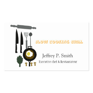 Food Business Catering Culinary Chef Business Card Templates
