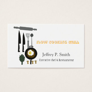 Food Business Catering Culinary Chef Business Card