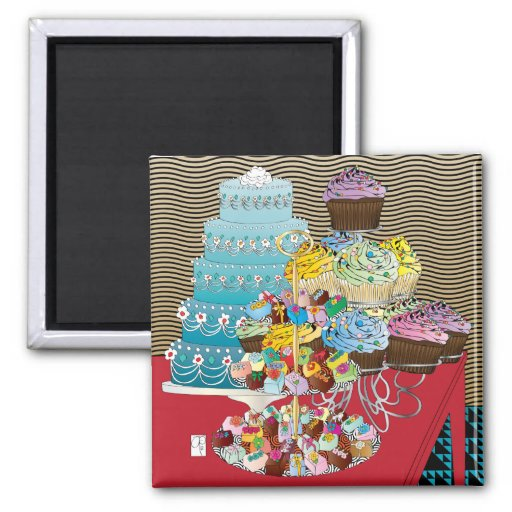 Food Cakes Magnet