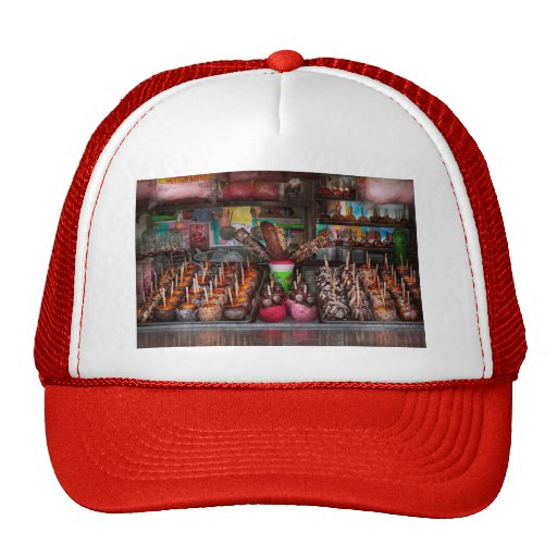 Food - Candy - Chocolate covered everything Mesh Hats