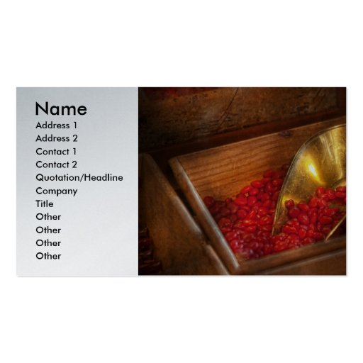 Food - Candy - Hot cinnamon candies Double-Sided Standard Business Cards (Pack Of 100)