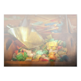 """Food - Candy - One scoop of candy please 5"""" X 7"""" Invitation Card"""