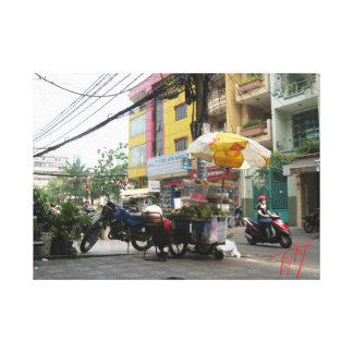 Food Cart District 1 Saigon HCMC Vietnam Gallery Wrap Canvas