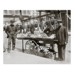 Food Cart in Little Italy, 1908. Vintage Photo Poster
