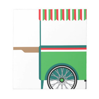 Food cart isolated notepad