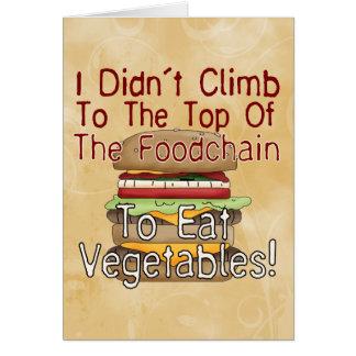 Food Chain Greeting Card