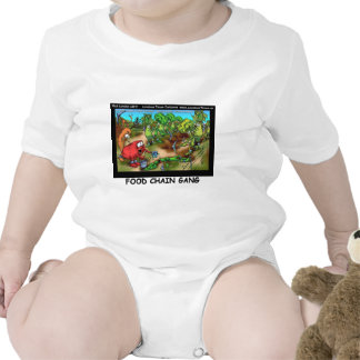 Food Chain Gang Funny Gifts Tees Cards Etc Baby Bodysuits