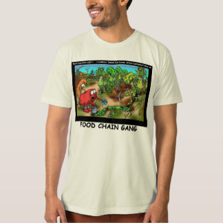 Food Chain Gang Organic Cotton Funny Mens Tees
