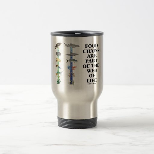 Food Chains Are Part Of The Web Of Life (Ecology) 15 Oz Stainless Steel Travel Mug