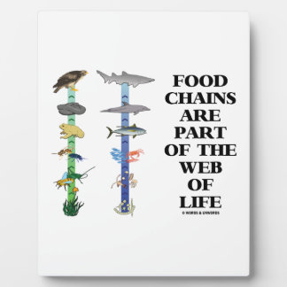 Food Chains Are Part Of The Web Of Life (Ecology) Plaque