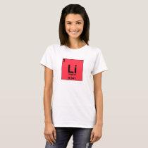 Food Chemistry Periodic Table: Linguini/Lithium T-Shirt