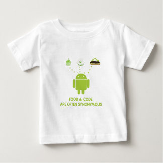 Food & Code Are Often Synonymous (Android) Baby T-Shirt