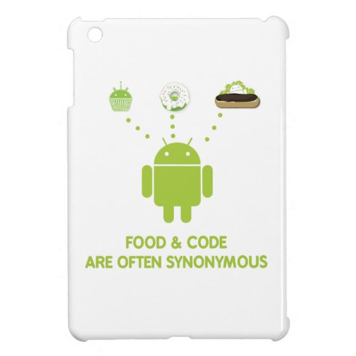 Food & Code Are Often Synonymous (Bug Droid) Case For The iPad Mini