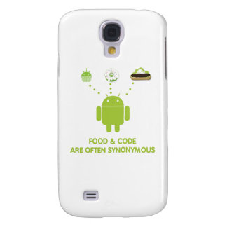 Food & Code Are Often Synonymous (Bug Droid) Samsung S4 Case