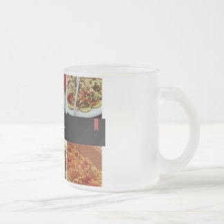 Food Collage 10 Oz Frosted Glass Coffee Mug