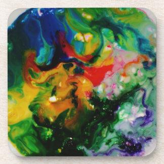Food Coloring Art Drink Coaster