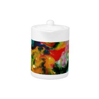 Food Coloring Art Teapot