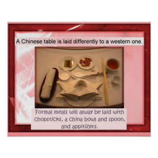 Food, cookery, Chinese table Posters